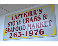 Captain Kirk's Stone Crabs and Fresh Seafood Market